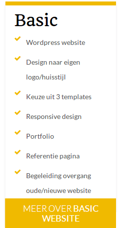 website maken in een basic pakket
